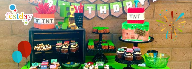 Ideas De Cumpleaños Minecraft Cotillon Y Cumpleaños